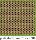 대마의 잎 모양의 보자기 이미지 일러스트 배경 소재, 71277786