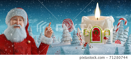 Merry Christmas and a Happy new year concept 71280744