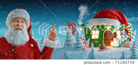Merry Christmas and a Happy new year concept 71280749