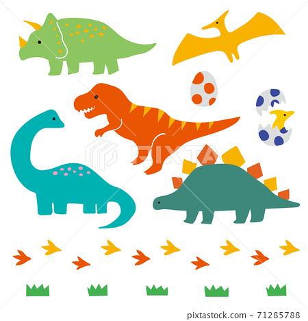手繪可愛恐龍圖-A 71285788