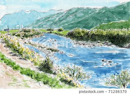佐波川의 흐름 71286370