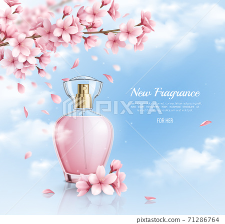 Sakura Fragrance Realistic Background 71286764