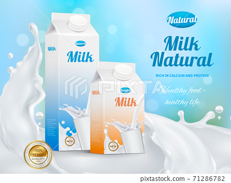 Milk Advertising Realistic Poster 71286782