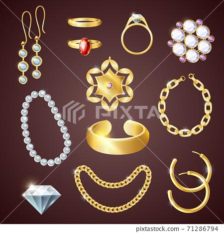 Jewelry Realistic Set 71286794