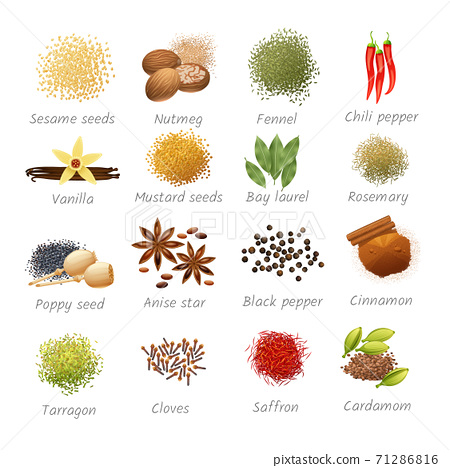 Icons Set Of Spices 71286816