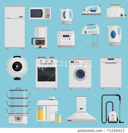 Household Appliances Icons Set 71286821