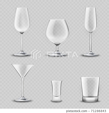 Glassware Transparent Set 71286843