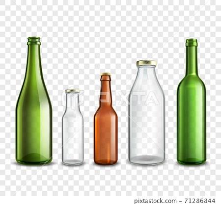 Glass bottles transparent 71286844