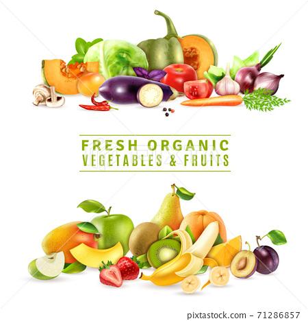 Fresh Vegetables And Fruits Design Concept 71286857