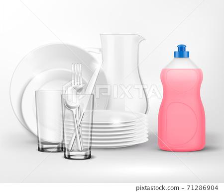 Dish Soap Realistic Composition 71286904