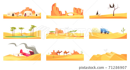 Desert Scenery Compositions Set 71286907