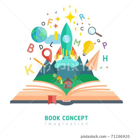 Book concept illustration 71286920