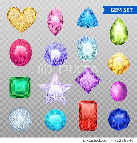 Gemstones Transparent Icon Set 71286946