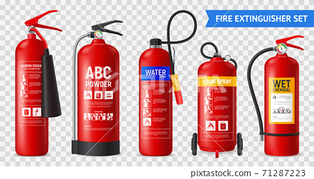 Realistic Fire Extinguishers Set 71287223
