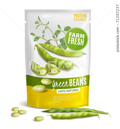 Green Beans Package Realistic 71287237