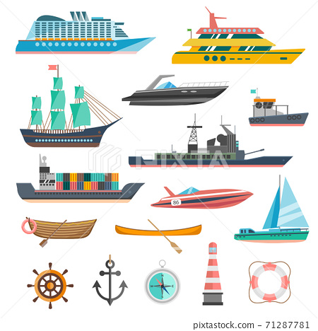 Ships Icons Set 71287781