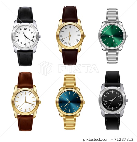 Realistic watches set 71287812