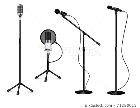 Collection Of Standing Professional Microphones 71288015
