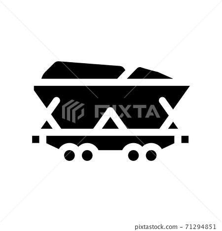mining coal glyph icon vector symbol illustration 71294851