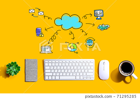 Cloud computing with a computer keyboard 71295285
