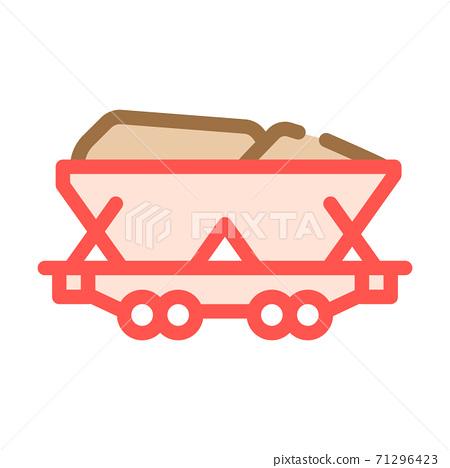 mining coal color icon vector symbol illustration 71296423