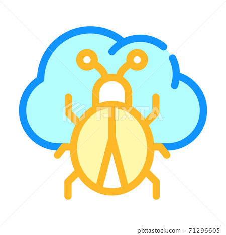 cloud virus color icon vector symbol illustration 71296605