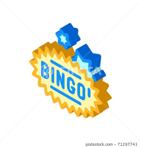 bingo game isometric icon vector isolated illustration 71297741