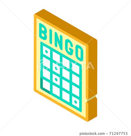 bingo card isometric icon vector isolated illustration 71297753