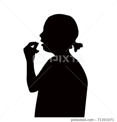 a girl head silhouette vector 71301071