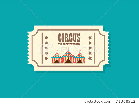 Vintage retro circus ticket 71308512