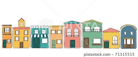 파리의 거리와 같은 건물 71315515