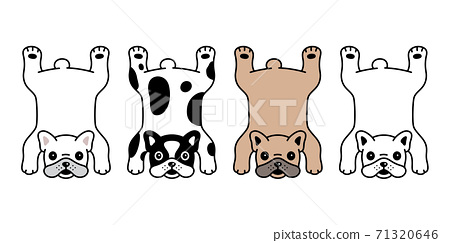 dog vector french bulldog icon rug carpet puppy pet character cartoon symbol scarf illustration doodle design 71320646