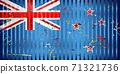 New Zealand flag with color stains 71321736