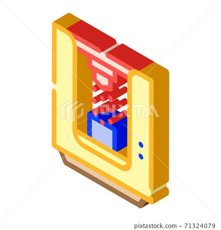 sandblasting chamber isometric icon vector isolated illustration 71324079