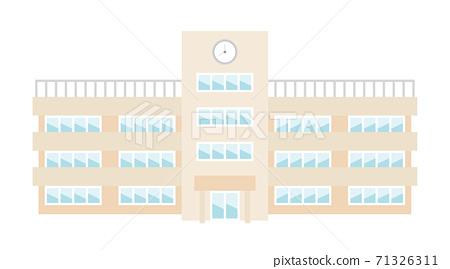 School building illustration image 71326311