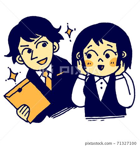 一個年輕的女僱員,被一個英俊的同事興奮 71327100