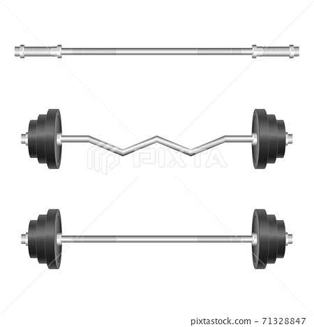 Barbel set vector illustration isolated on white backgorund 71328847