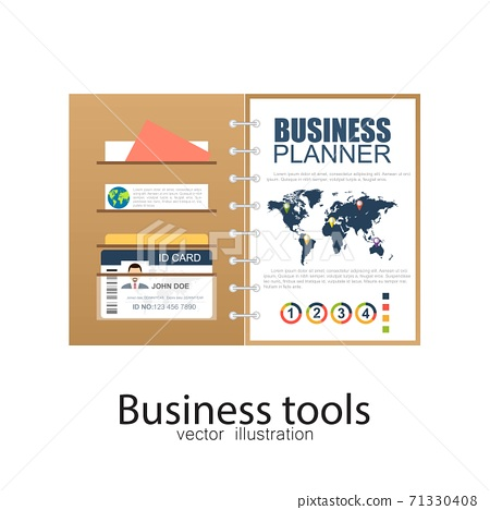 Business documents. Vector illustration in flat design. 71330408
