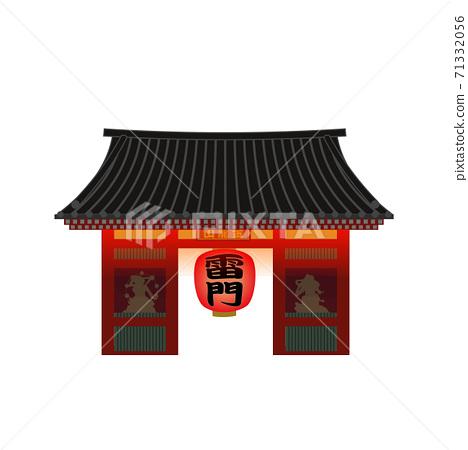 東京著名景點(夜間淺草寺,賴門) 71332056