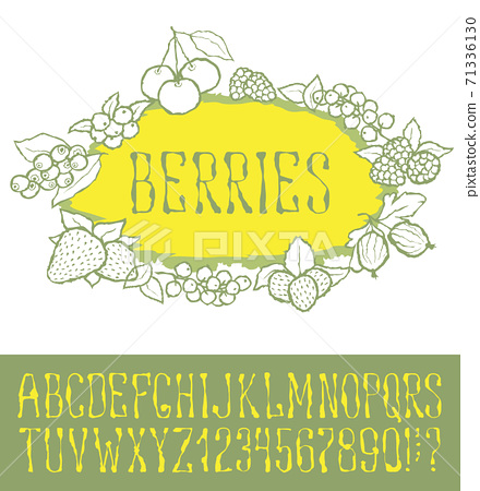 Seamless berries pattern 71336130