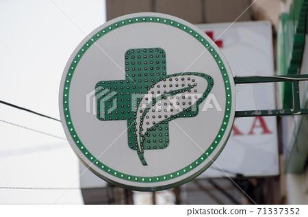 Green Cross Pharmacy Street Sign 71337352