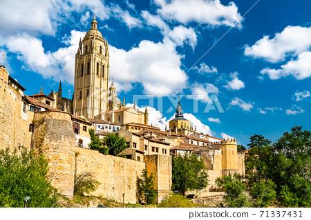 Segovia Cathedral in Castile and Leon, Spain 71337431