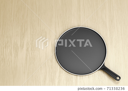 Empty pancake pan on table 71338236