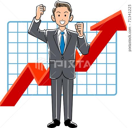 一個年輕的商人對性能的提升感到滿意 71341225