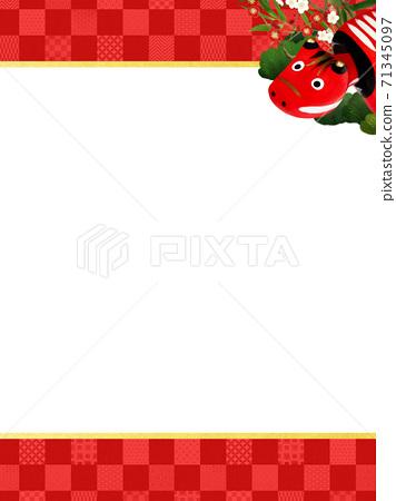 빨강 모든 것을 송죽매를 장식 한 붉은 바둑판 무늬 배경 - 여러 종류가 있습니다 71345097