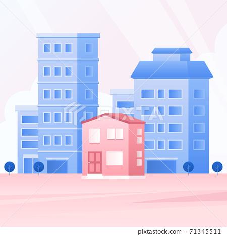 大廈傳染媒介例證 - 房子 71345511