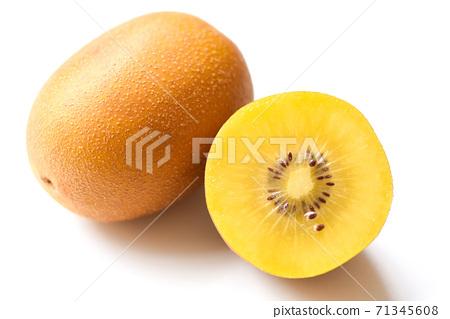 Kiwi slice on white background - kiwi fruit 71345608