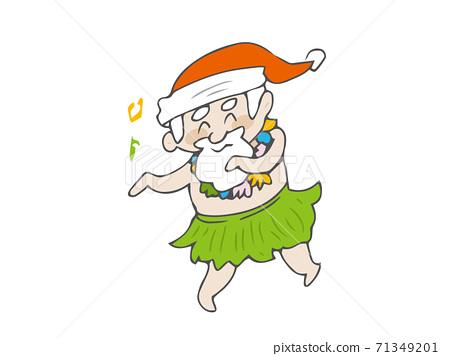 呼啦舞熱帶聖誕節聖誕老人 71349201