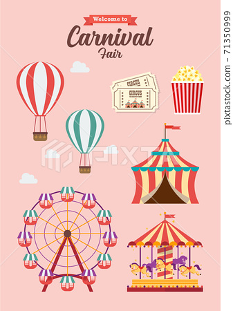 Carnival Festival Collection Vector illustration 71350999