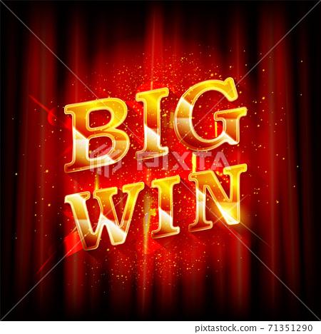 Big Win banner for online casino 71351290